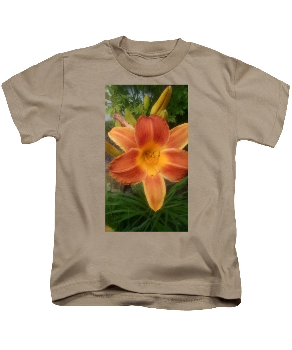 Orange Kids T-Shirt featuring the photograph Orange Delight by Connie Young