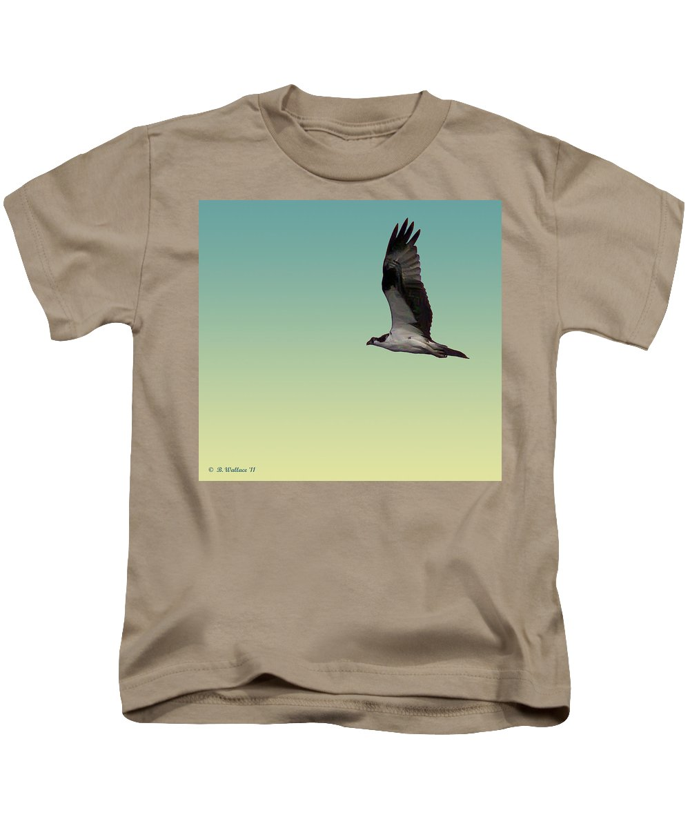 2d Kids T-Shirt featuring the photograph Osprey by Brian Wallace