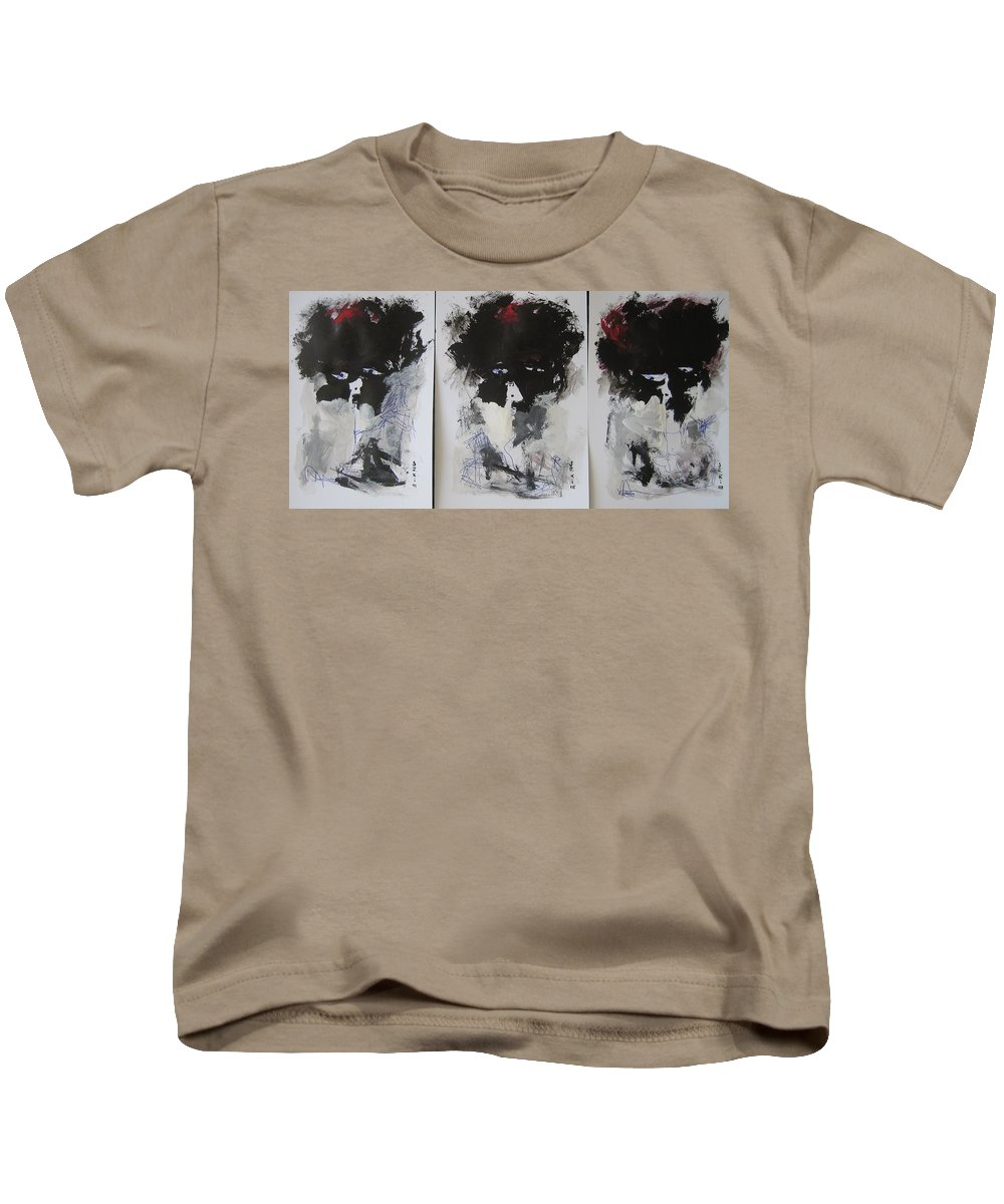 Original Kids T-Shirt featuring the painting Other Than 3 by Seon-Jeong Kim
