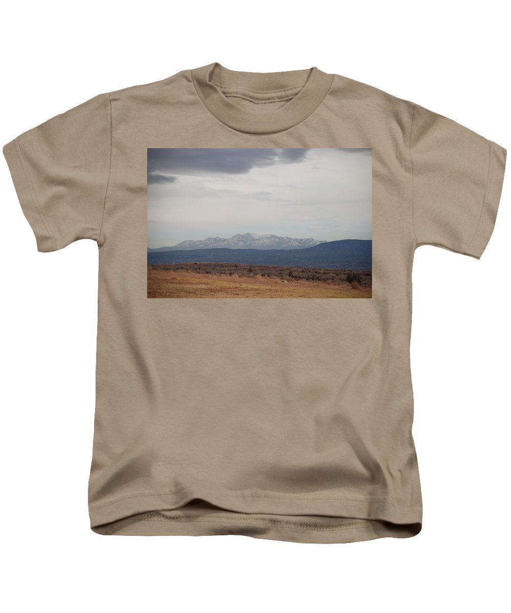 Mountains Kids T-Shirt featuring the photograph Overcast On The Sandias by Rob Hans