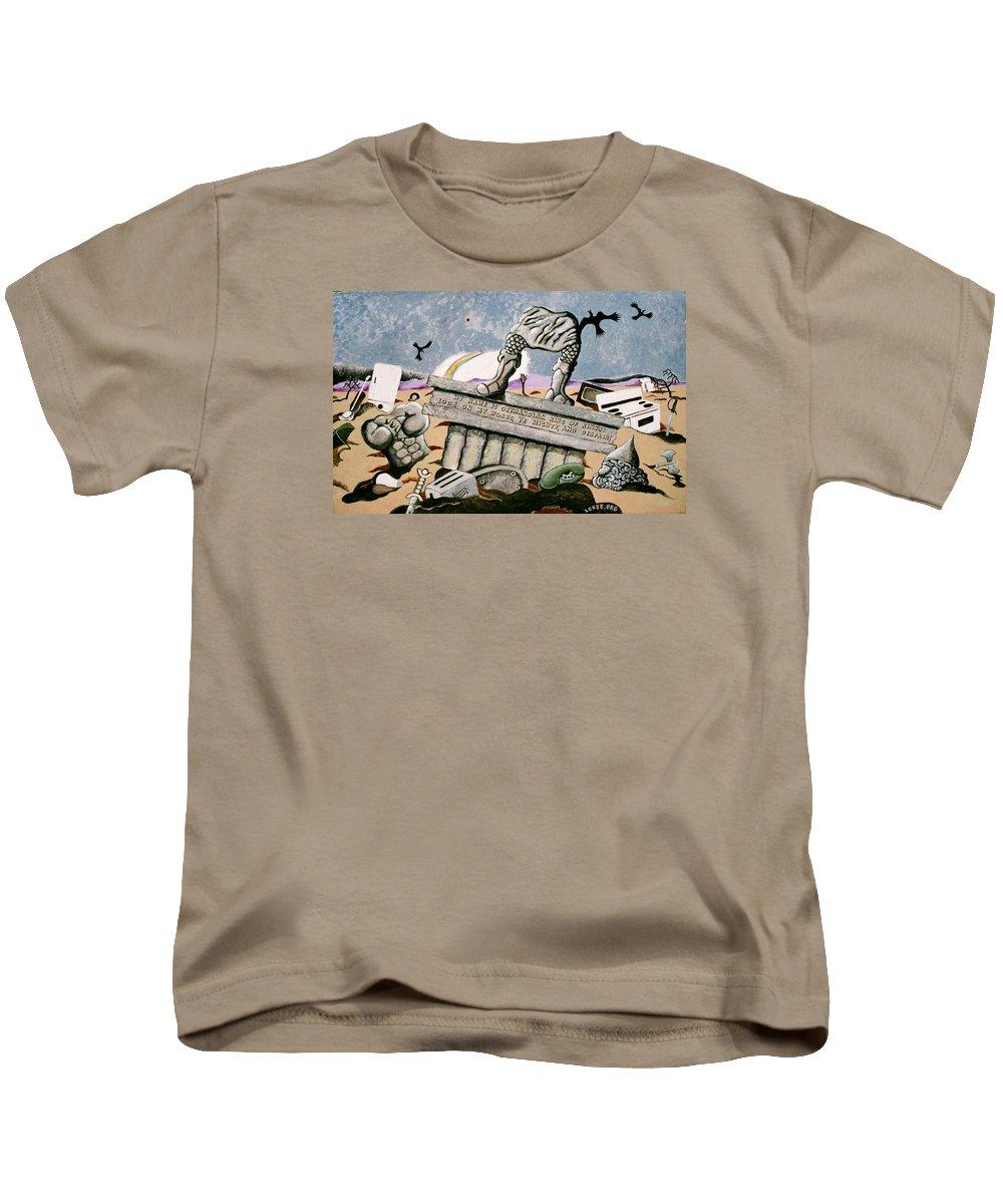 King Kids T-Shirt featuring the painting Ozymandias by Sharron Loree