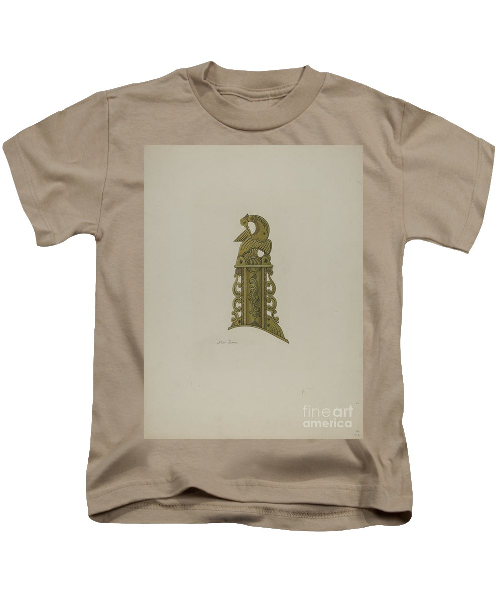 Kids T-Shirt featuring the painting Pa. German Patch Box by Albert Levone