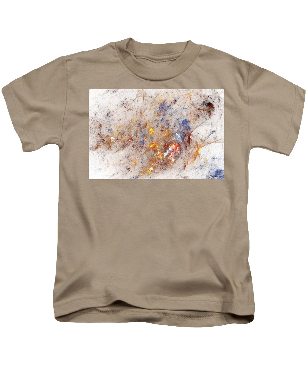 Abstract Kids T-Shirt featuring the digital art Paean To Pollack by Casey Kotas