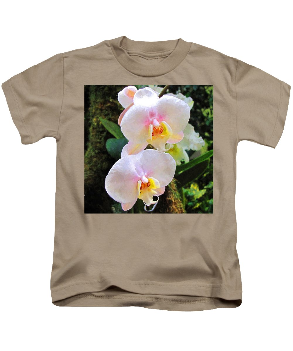 Orchids Kids T-Shirt featuring the photograph Paired by John Freidenberg