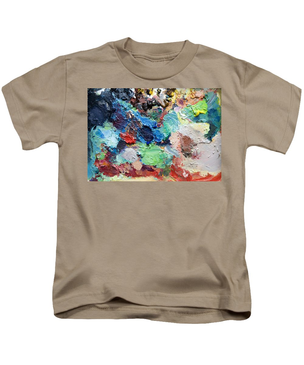 Palette Kids T-Shirt featuring the painting Palette by Rachel Christine Nowicki