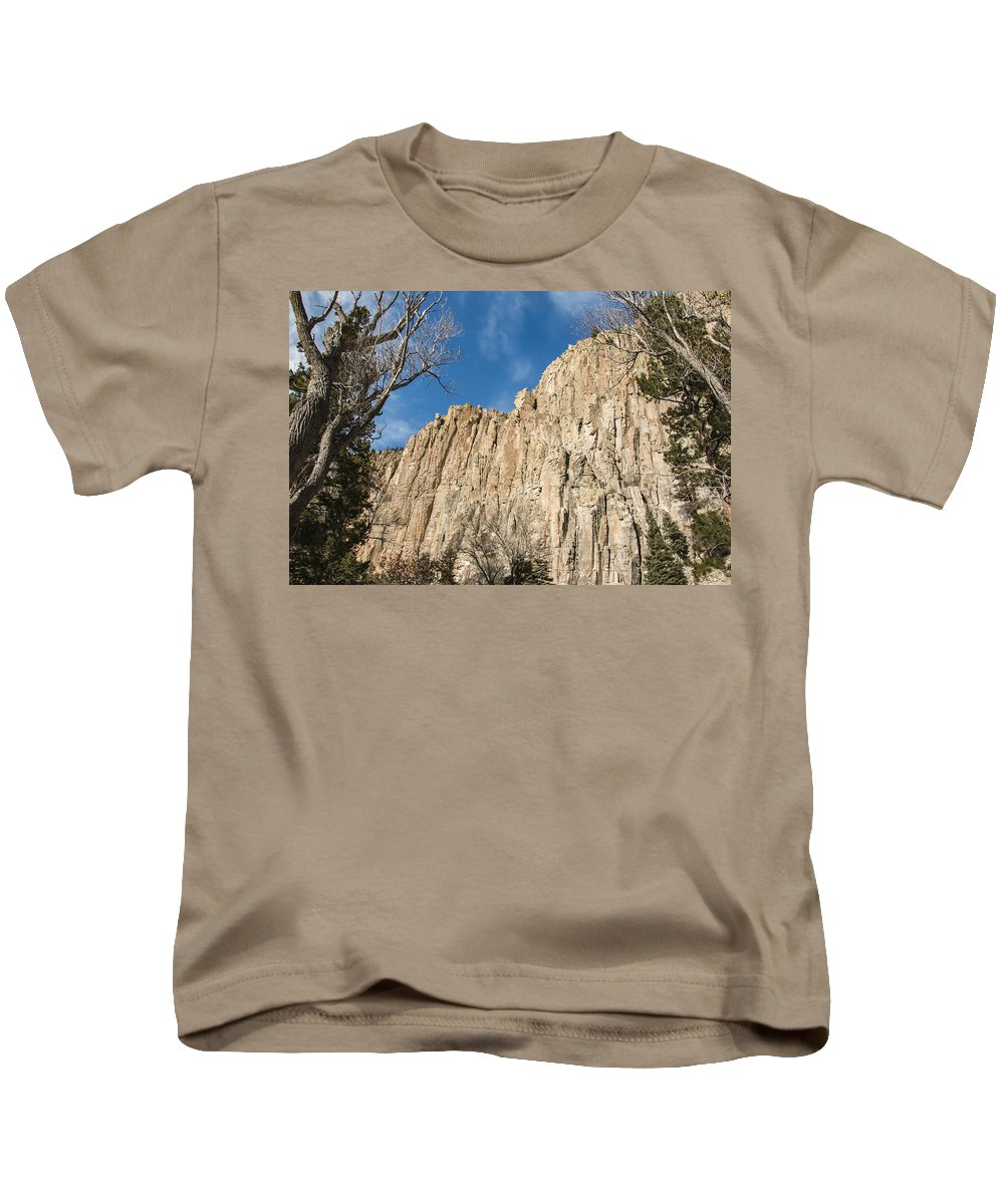 Blue Sky Kids T-Shirt featuring the photograph Palisades Sill Cimarron by Edie Ann Mendenhall