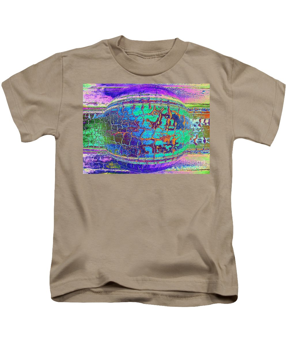 Digital Art Kids T-Shirt featuring the photograph Parched Earth Abstract by Carol Groenen