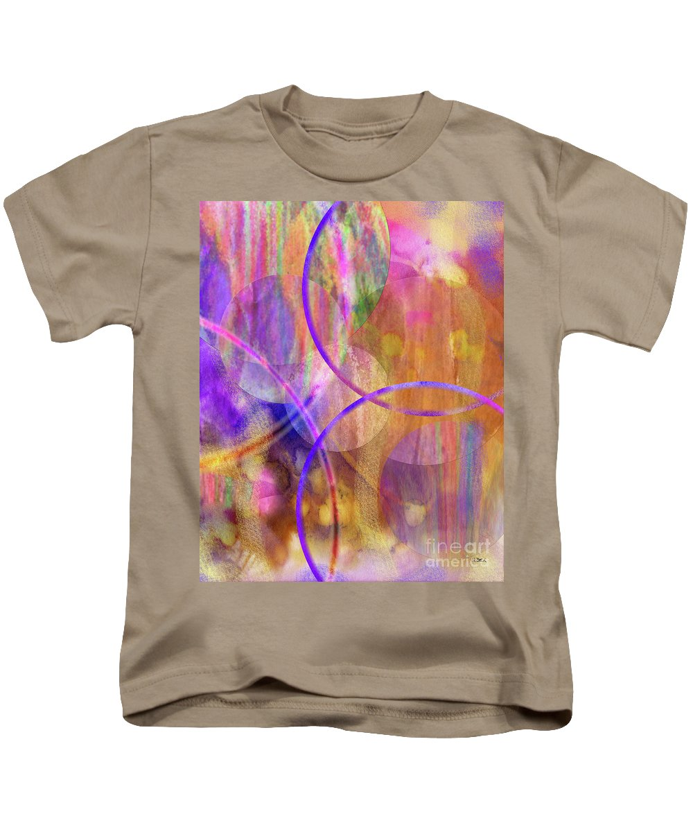 Pastel Planets Kids T-Shirt featuring the digital art Pastel Planets by John Beck