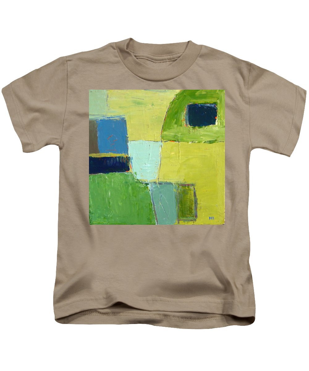 Abstract Kids T-Shirt featuring the painting Peace 1 by Habib Ayat