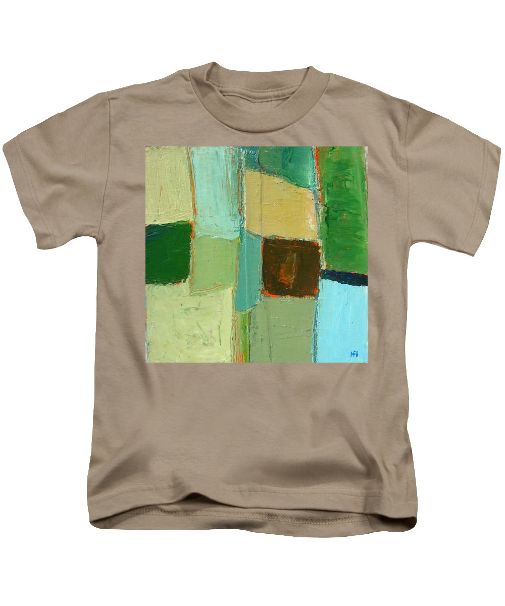 Kids T-Shirt featuring the painting Peace 2 by Habib Ayat