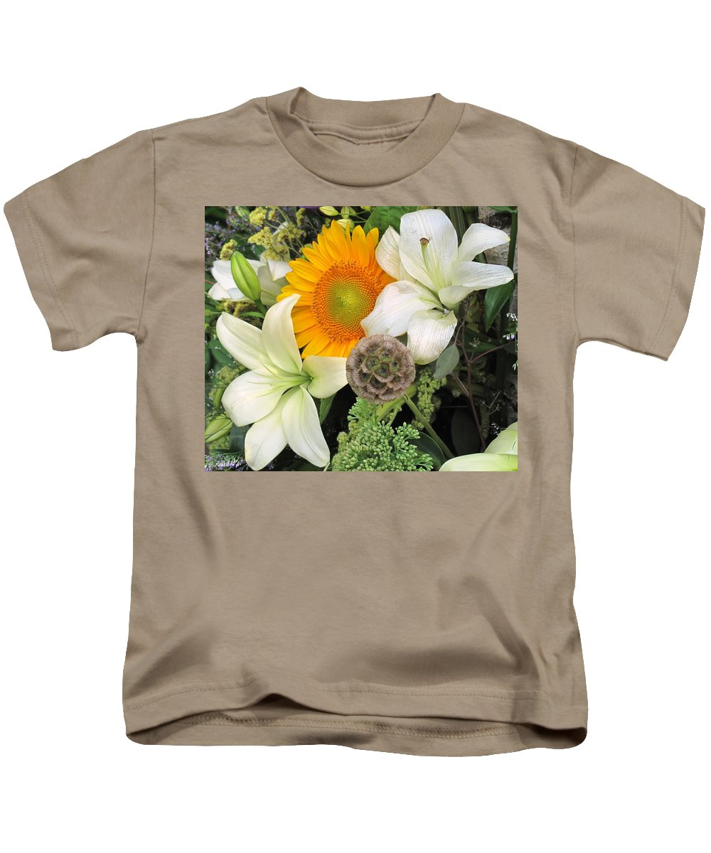Lillies Kids T-Shirt featuring the photograph Peeking Out by Ian MacDonald