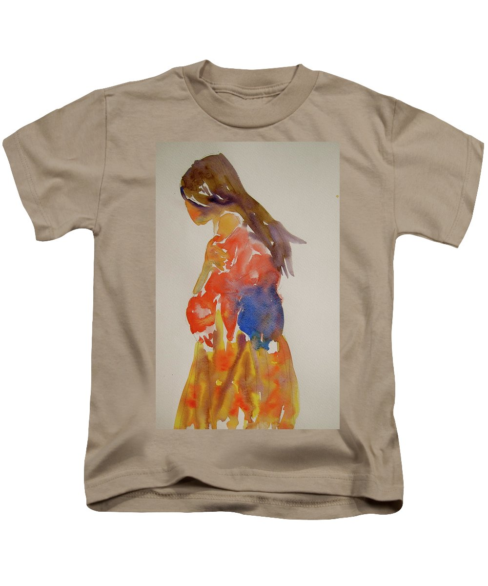 Figure Kids T-Shirt featuring the painting People Turned Away by Beverley Harper Tinsley