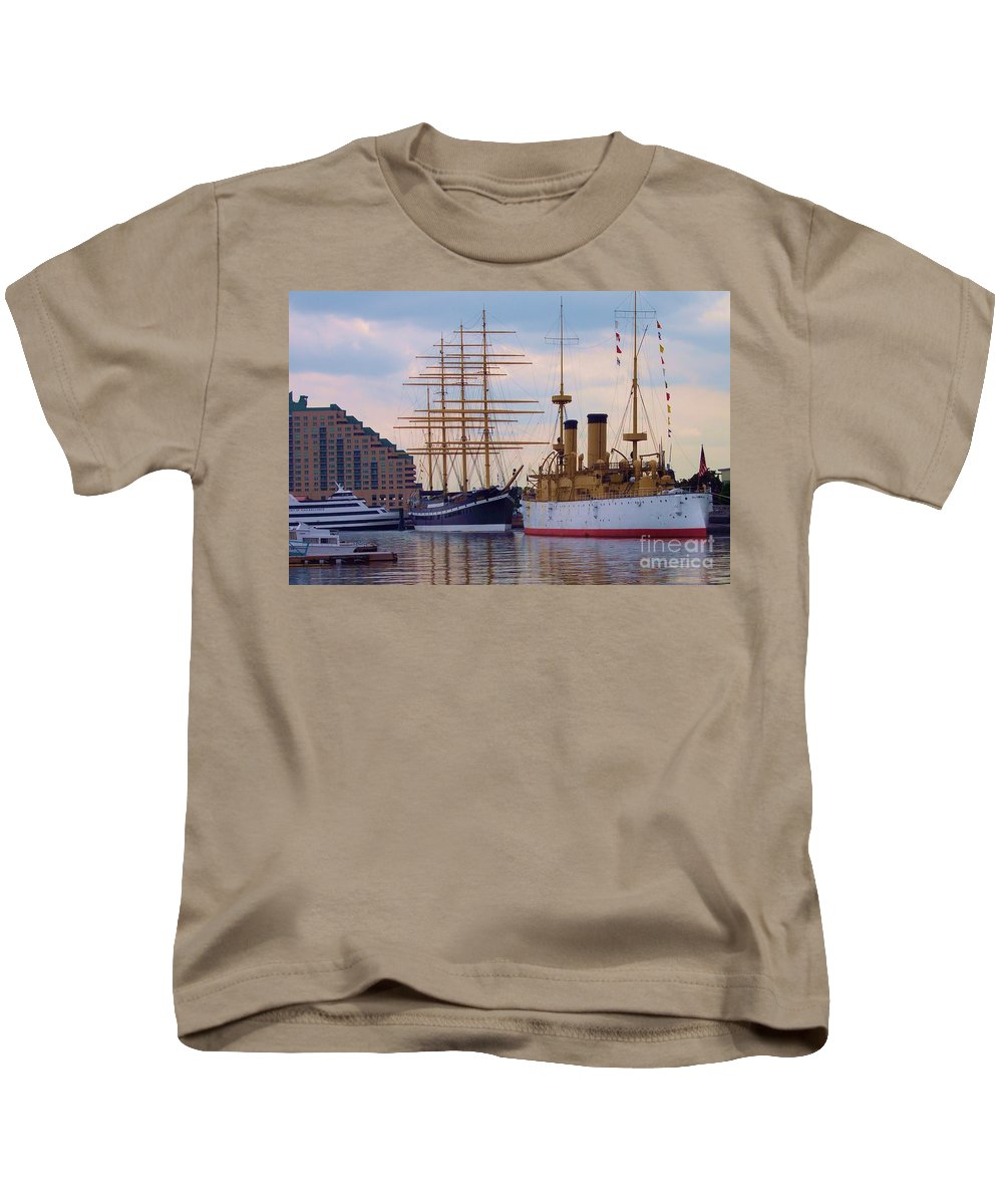 Philadelphia Kids T-Shirt featuring the photograph Philadelphia Waterfront Olympia by Debbi Granruth