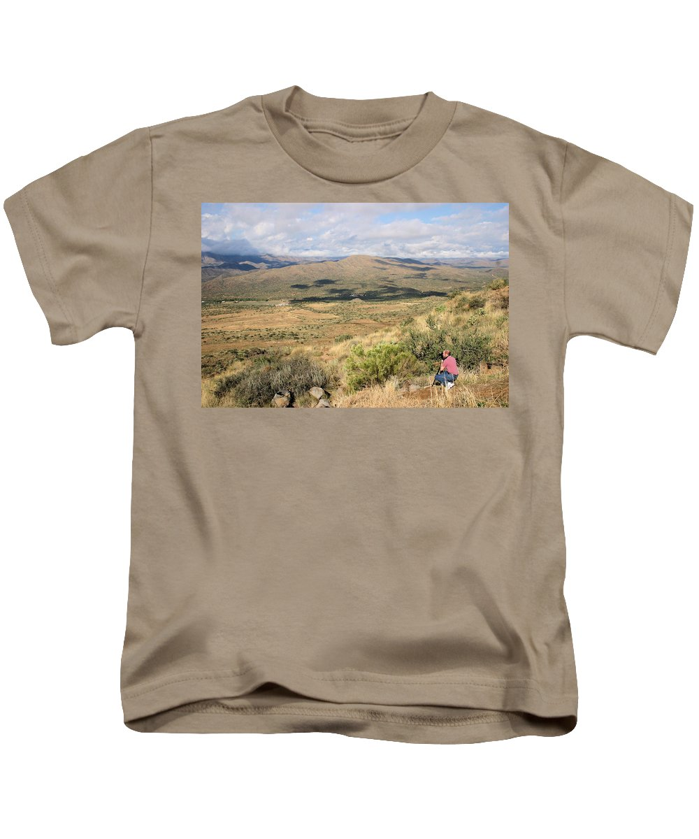 Photographer Kids T-Shirt featuring the photograph Photographer On The Scene by Kristin Elmquist