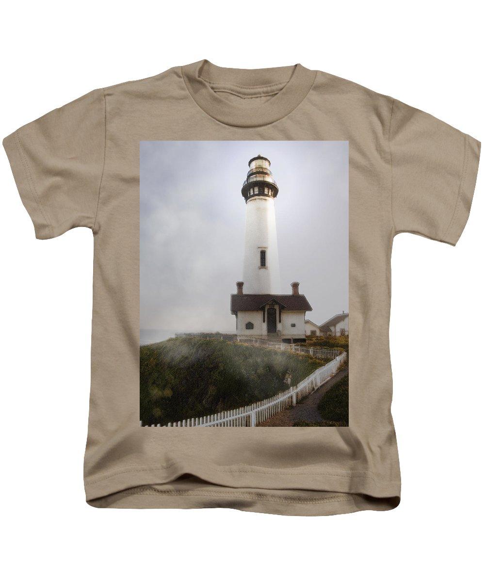 Ocean Kids T-Shirt featuring the photograph Pigeon Point Lighthouse by Karen W Meyer