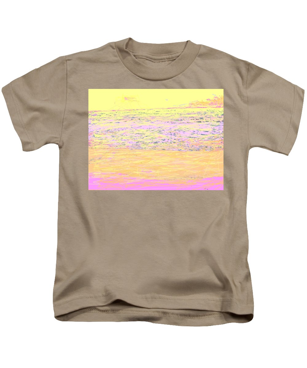 Seascape Kids T-Shirt featuring the photograph Pineapple Sunset by Ian MacDonald