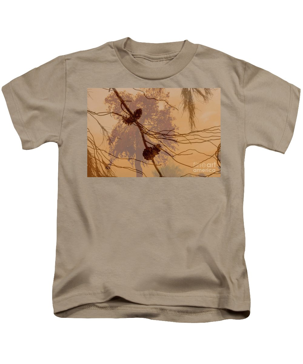 Kids T-Shirt featuring the photograph Pinecone Overlay Bright Horizontal by Heather Kirk