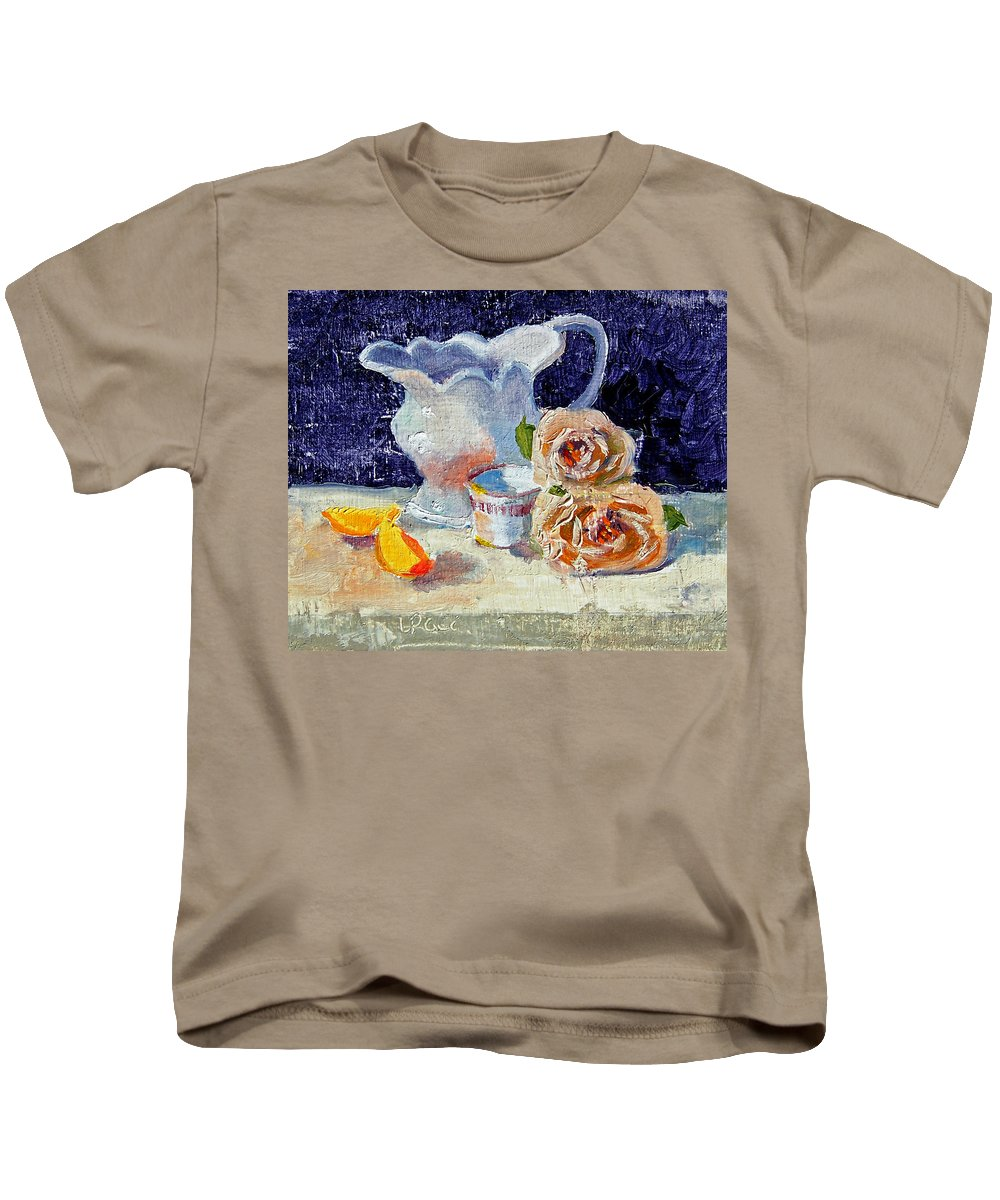 Pitcher Kids T-Shirt featuring the painting Pitcher Picture by Laurie Paci