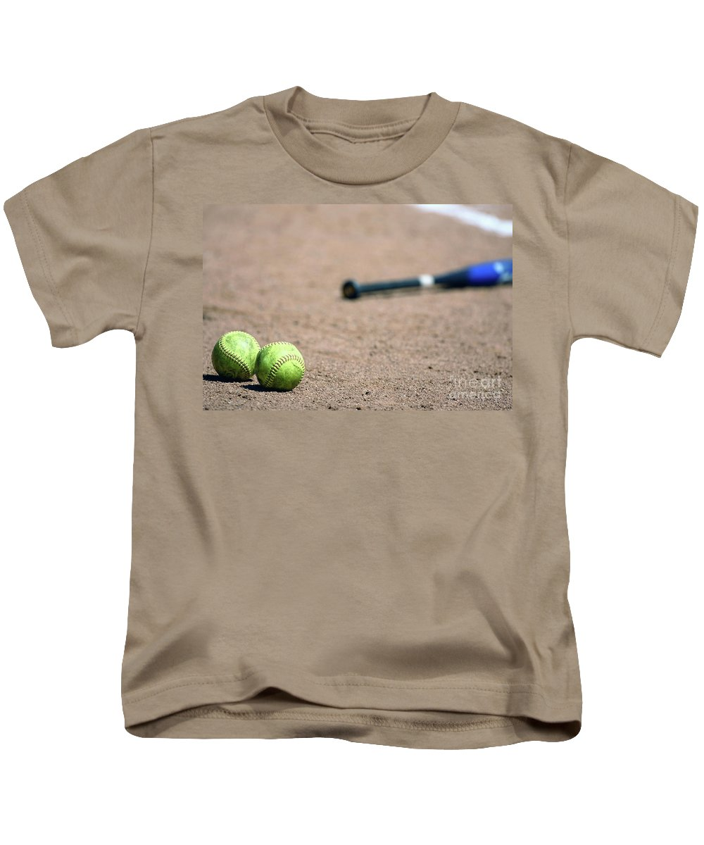 3d Kids T-Shirt featuring the photograph Play Ball by Alan Look