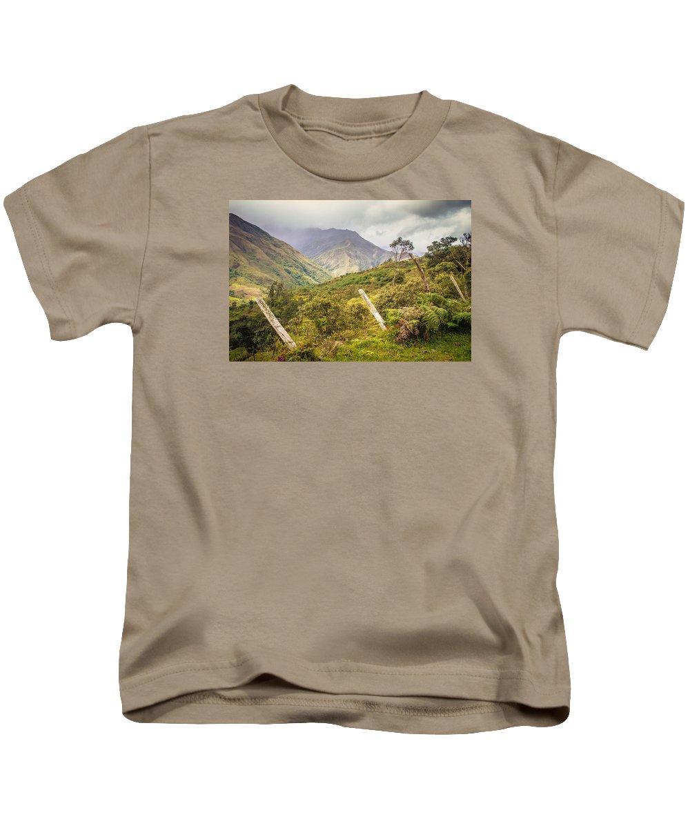 Podocarpus National Park Kids T-Shirt featuring the photograph Podocarpus National Park by Janice Bennett
