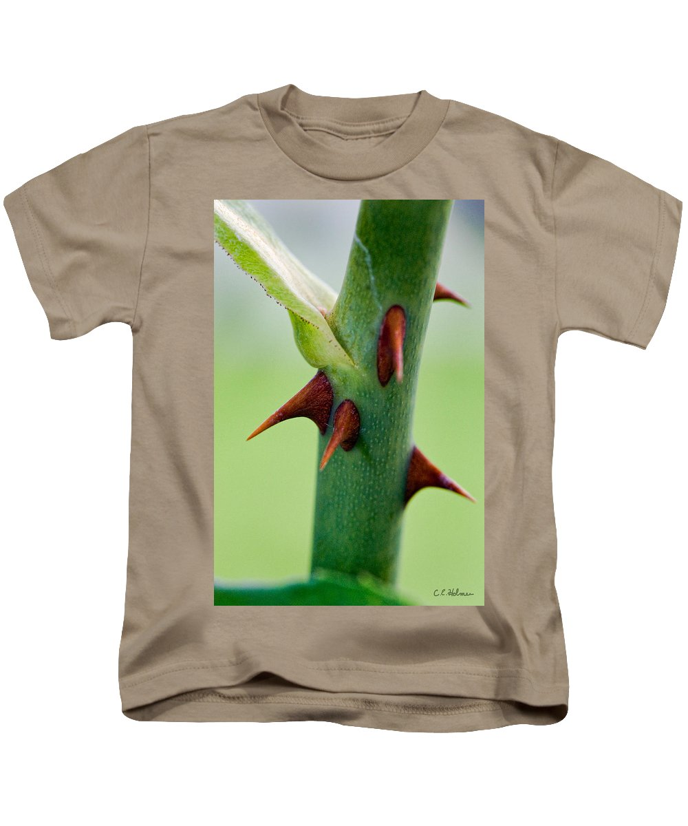 Thorns Kids T-Shirt featuring the photograph Pointed Personality by Christopher Holmes