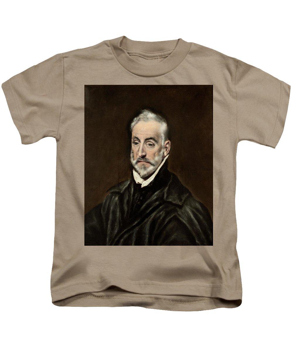 Beard Kids T-Shirt featuring the painting Portrait Of Antonio De Covarrubias by El Greco