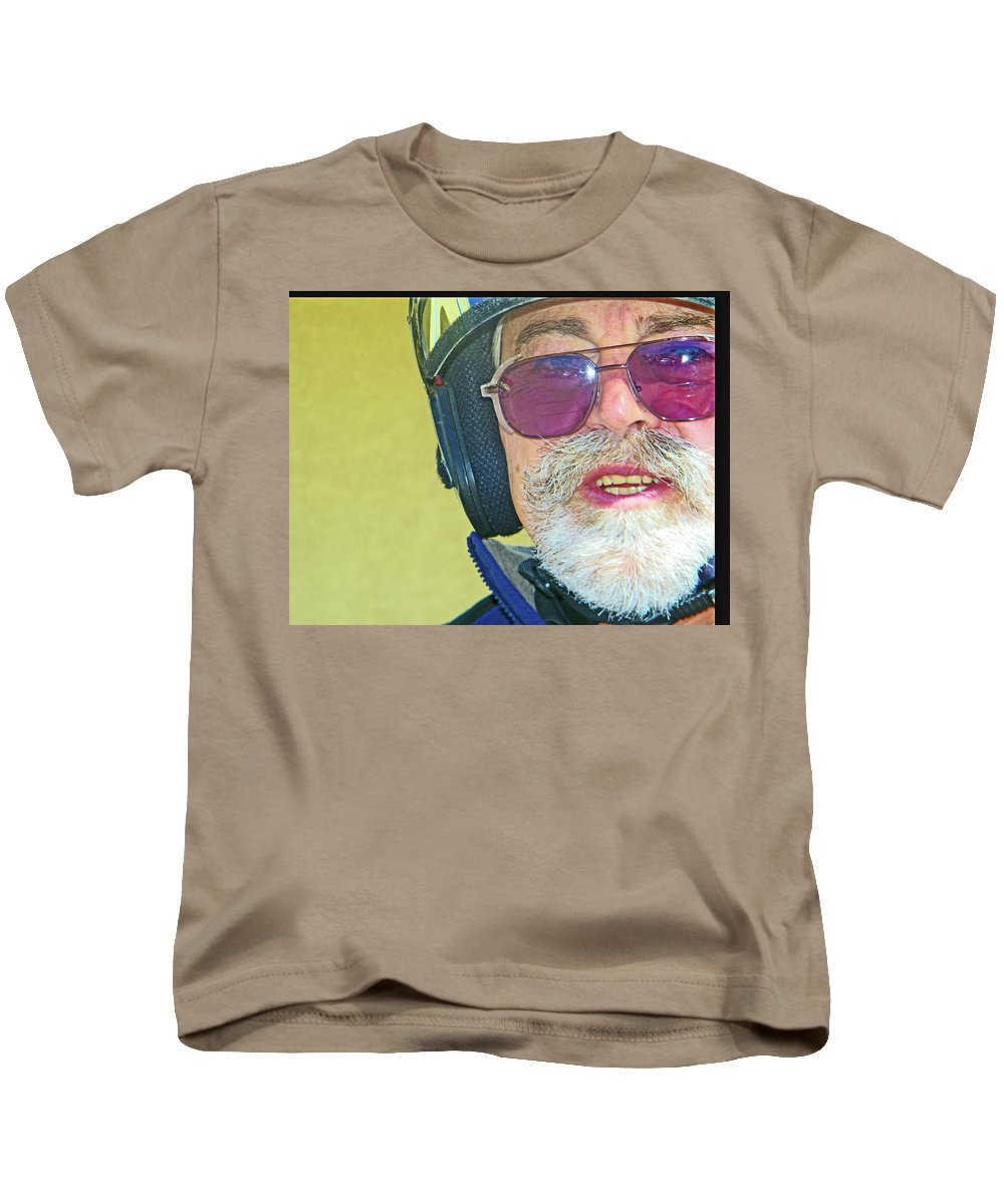 Abstract Kids T-Shirt featuring the photograph Portrait Of Lou by Lenore Senior
