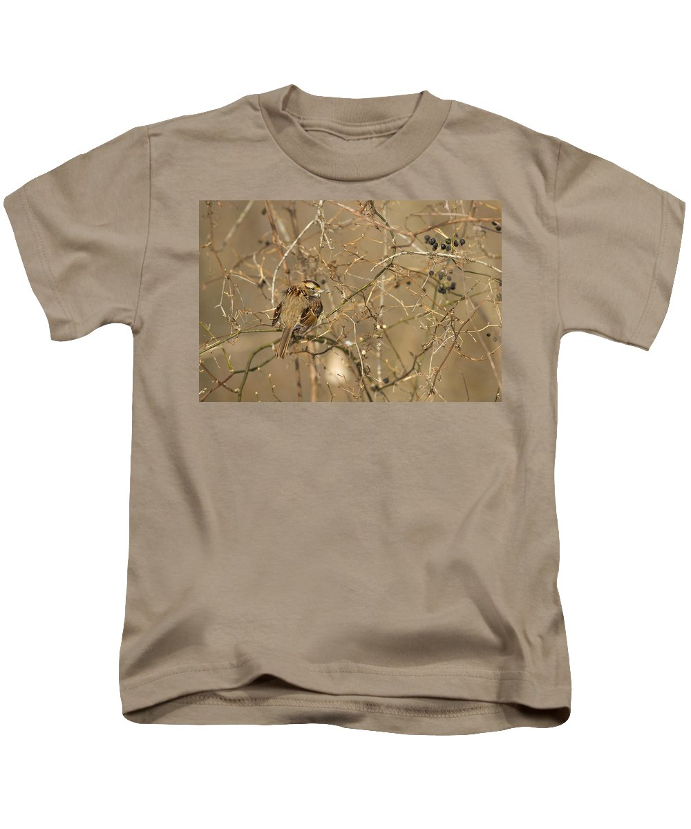 Sparrow Kids T-Shirt featuring the photograph Posing by Rodney Ervin