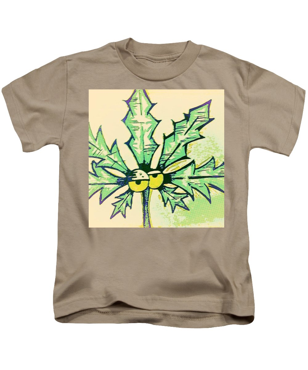 Weed Kids T-Shirt featuring the drawing Pot Leaf by Jason Freed