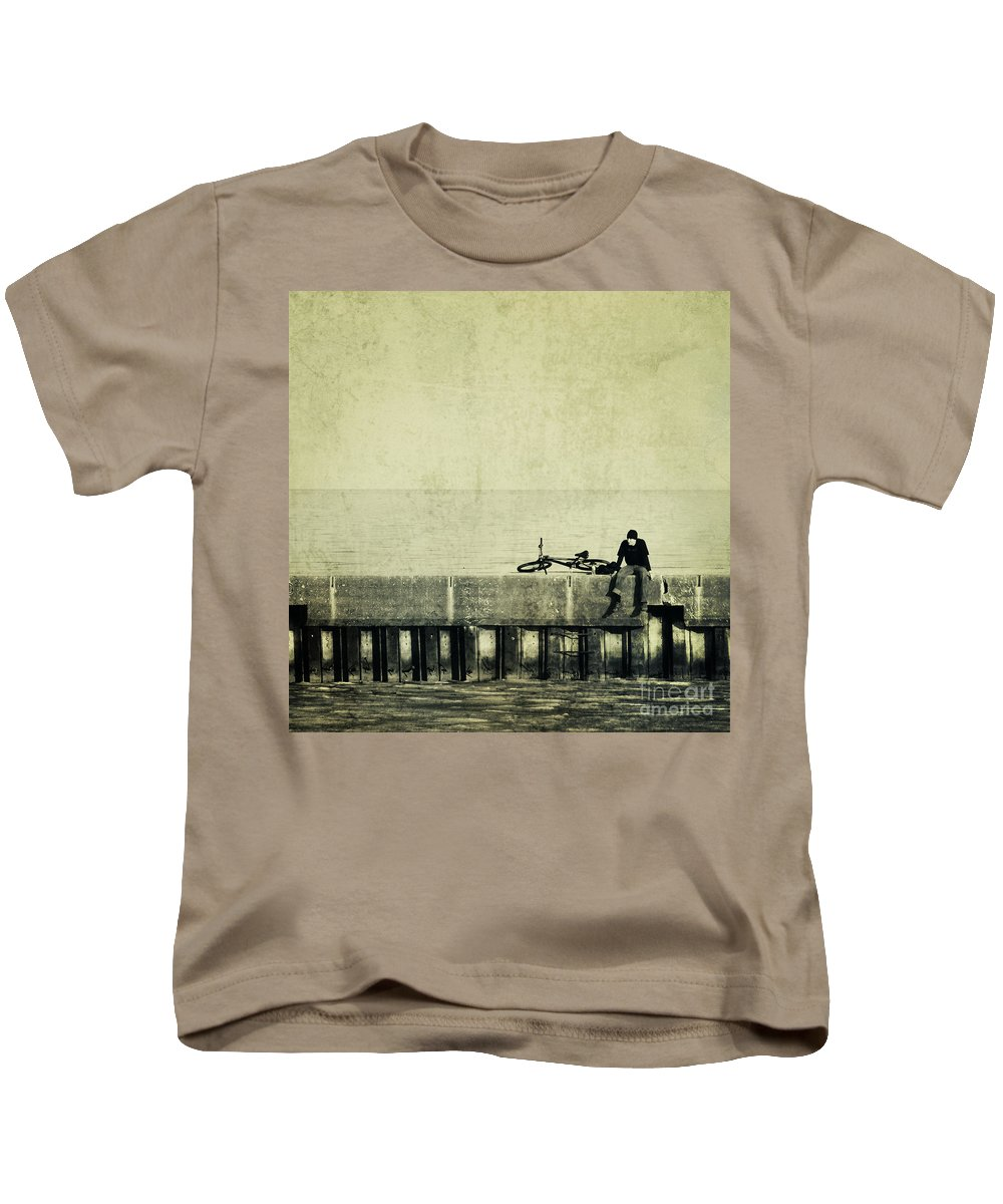 Man Kids T-Shirt featuring the photograph Praying To A God I Dont Believe In by Dana DiPasquale