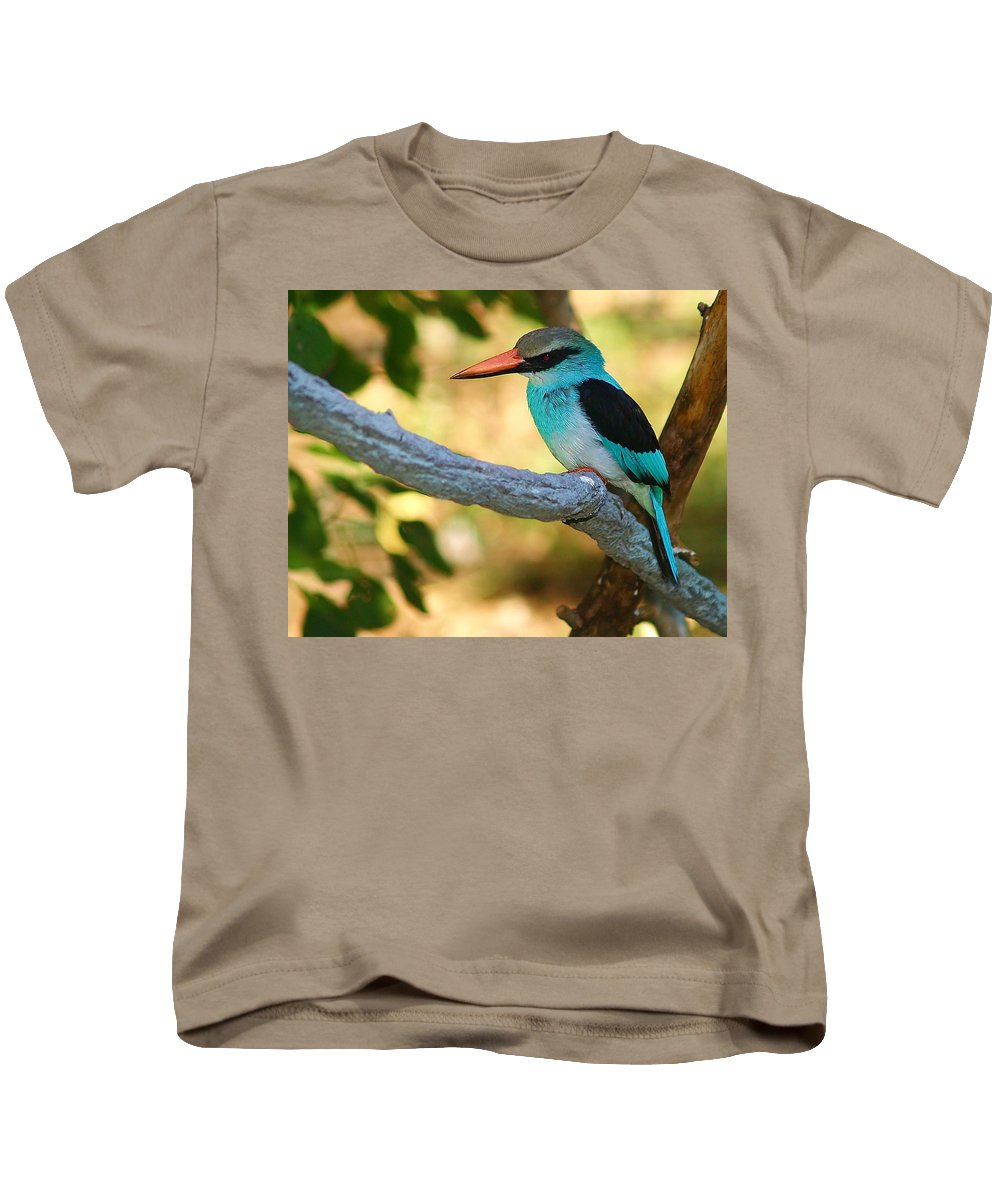 Kingfisher Kids T-Shirt featuring the photograph Pretty Bird by Gaby Swanson