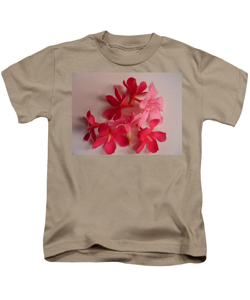 Foliage Kids T-Shirt featuring the photograph Pretty Flowers by Usha Shantharam