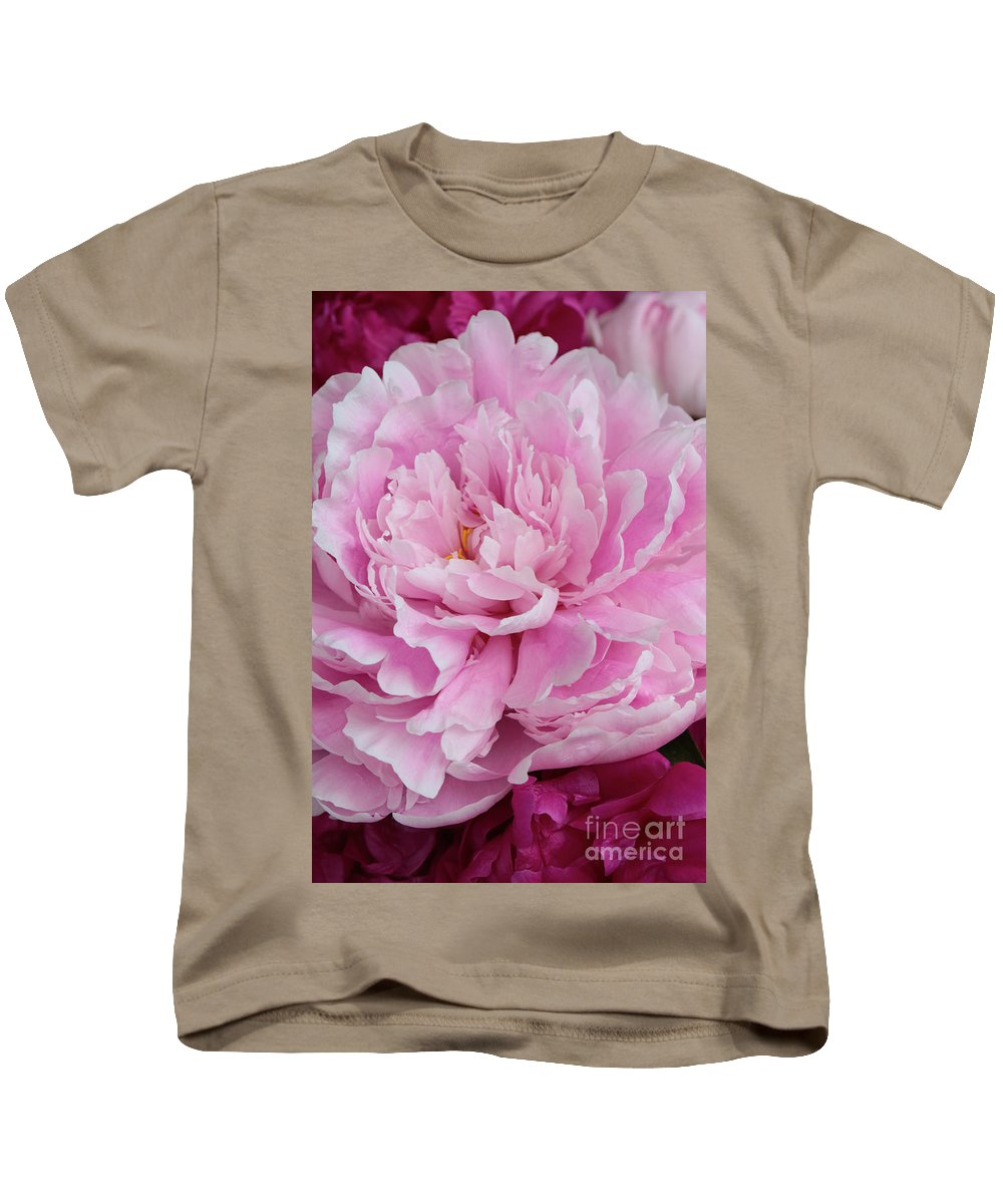 Peony Kids T-Shirt featuring the photograph Pretty In Pink Peony by Carol Groenen