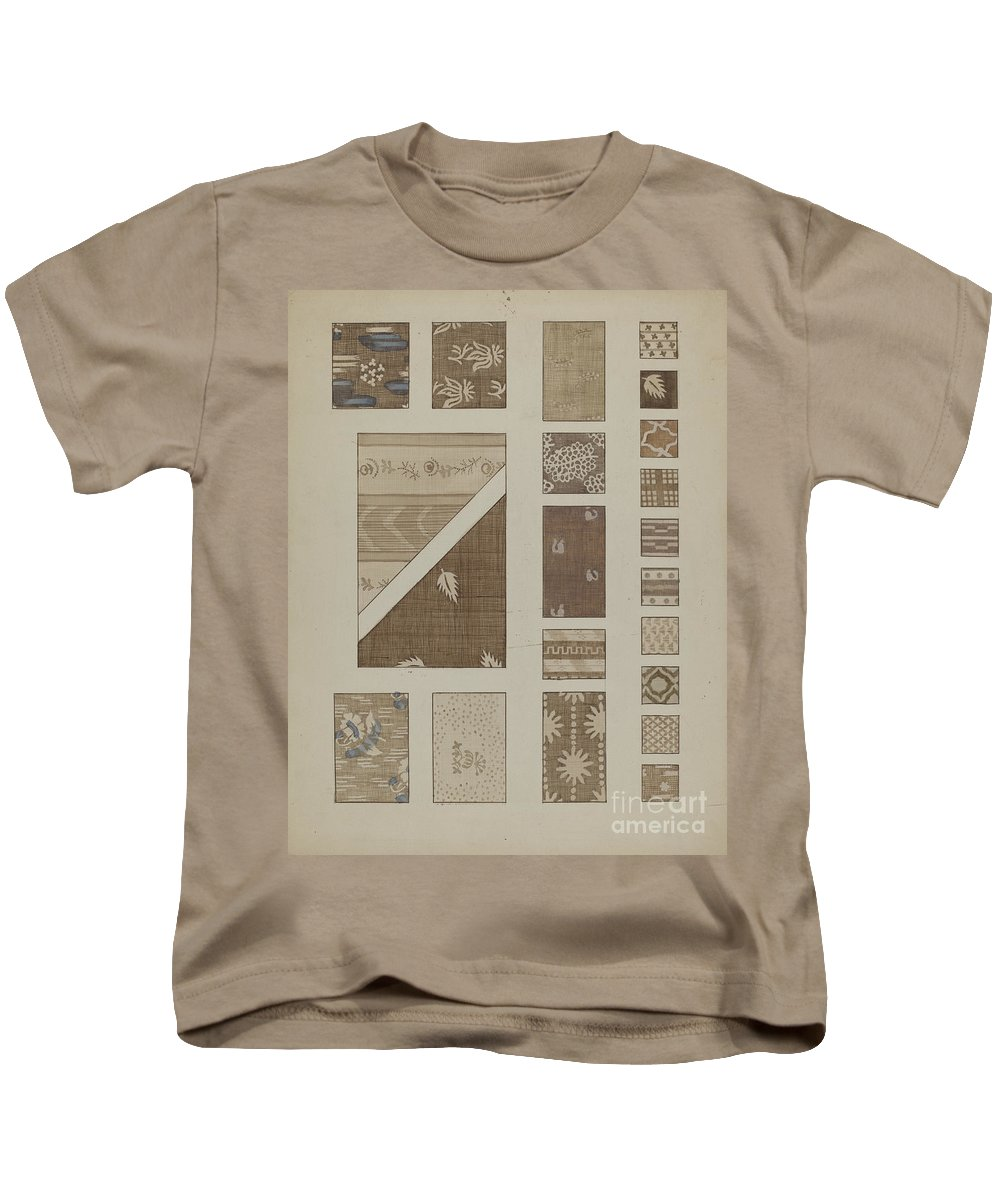Kids T-Shirt featuring the painting Printed Cotton by Millia Davenport