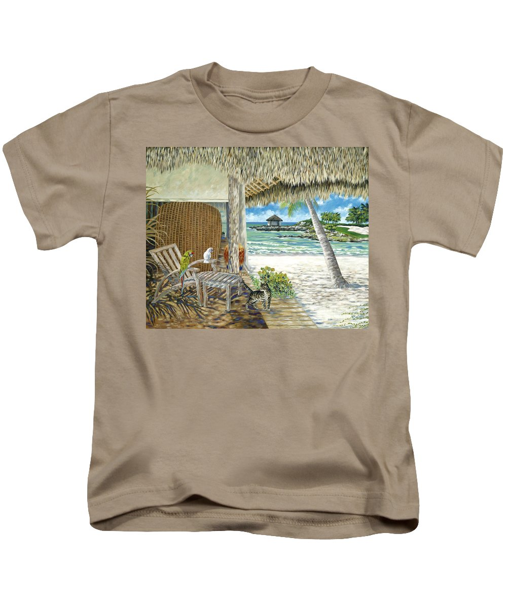 Private Island Kids T-Shirt featuring the painting Private Island by Danielle Perry