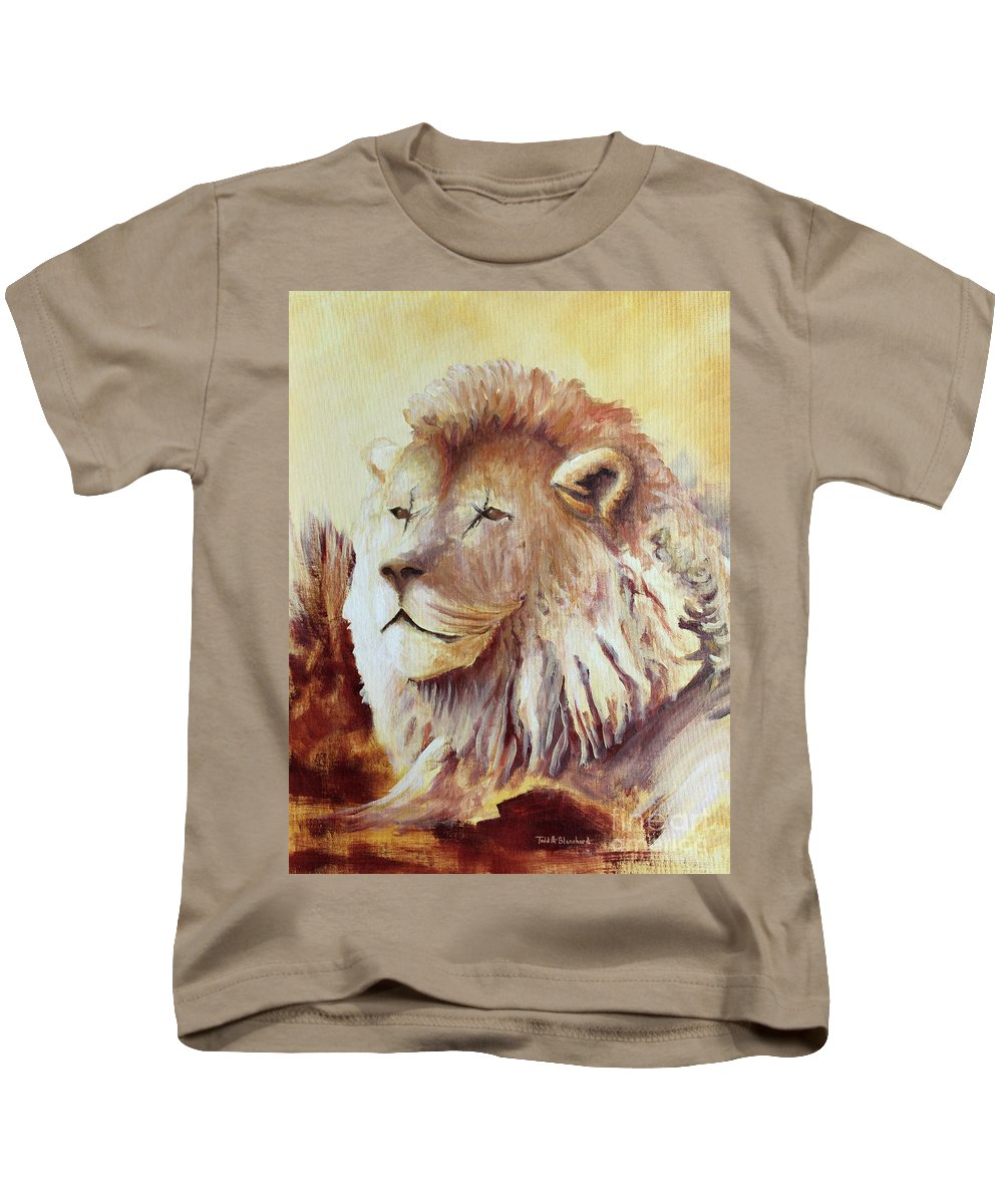 Animal Kids T-Shirt featuring the painting Proud by Todd Blanchard