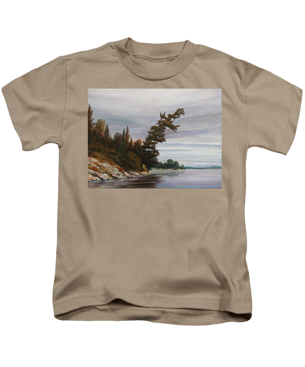 Landscape Kids T-Shirt featuring the painting Ptarmigan Bay by Ruth Kamenev