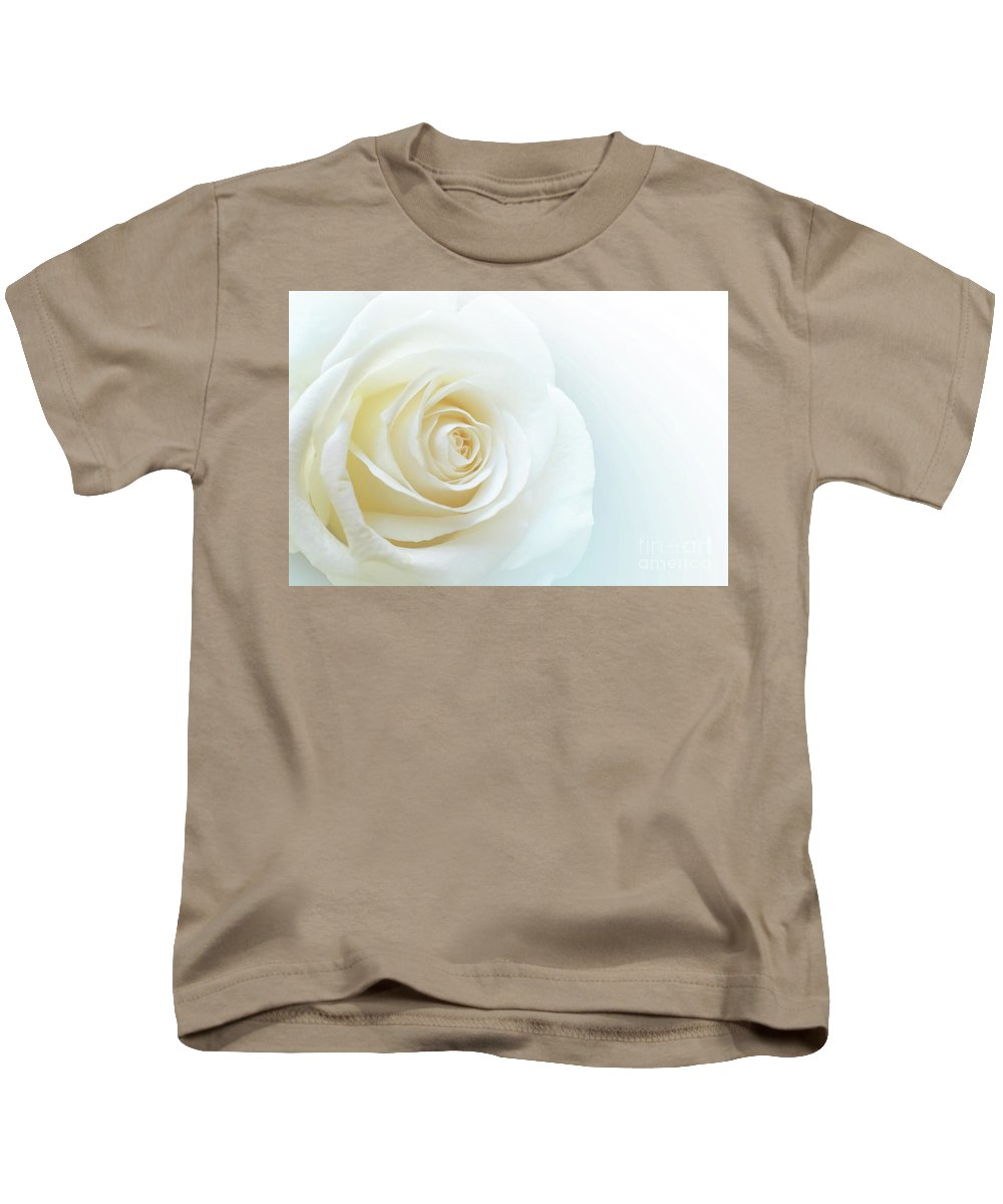 Rose Kids T-Shirt featuring the photograph Pure White Rose by Carlos Caetano