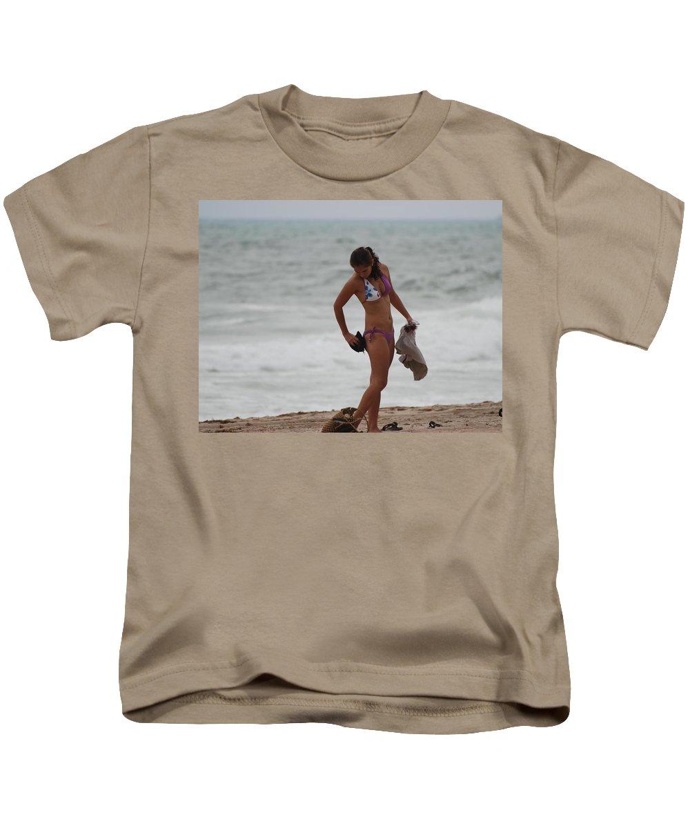 Bikinis Kids T-Shirt featuring the photograph Purple Bikini by Rob Hans