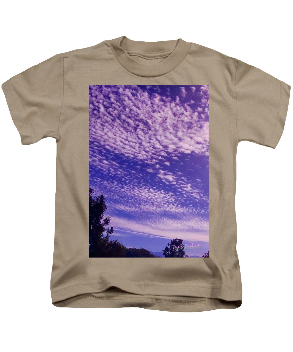 Purple Kids T-Shirt featuring the photograph Purple Sky At Casapaz by Jack Eadon