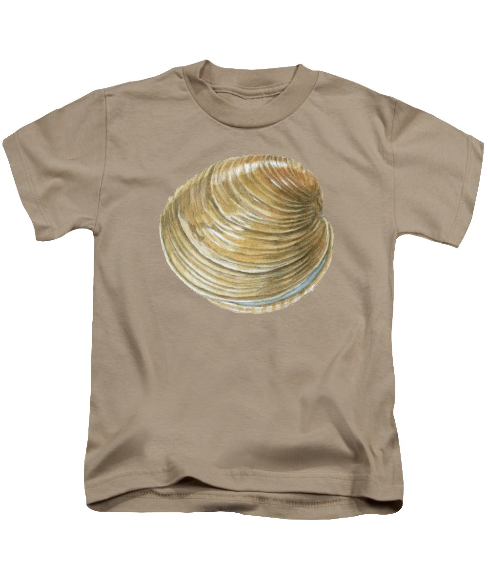 Quahog Kids T-Shirt featuring the painting Quahog Shell by Dominic White