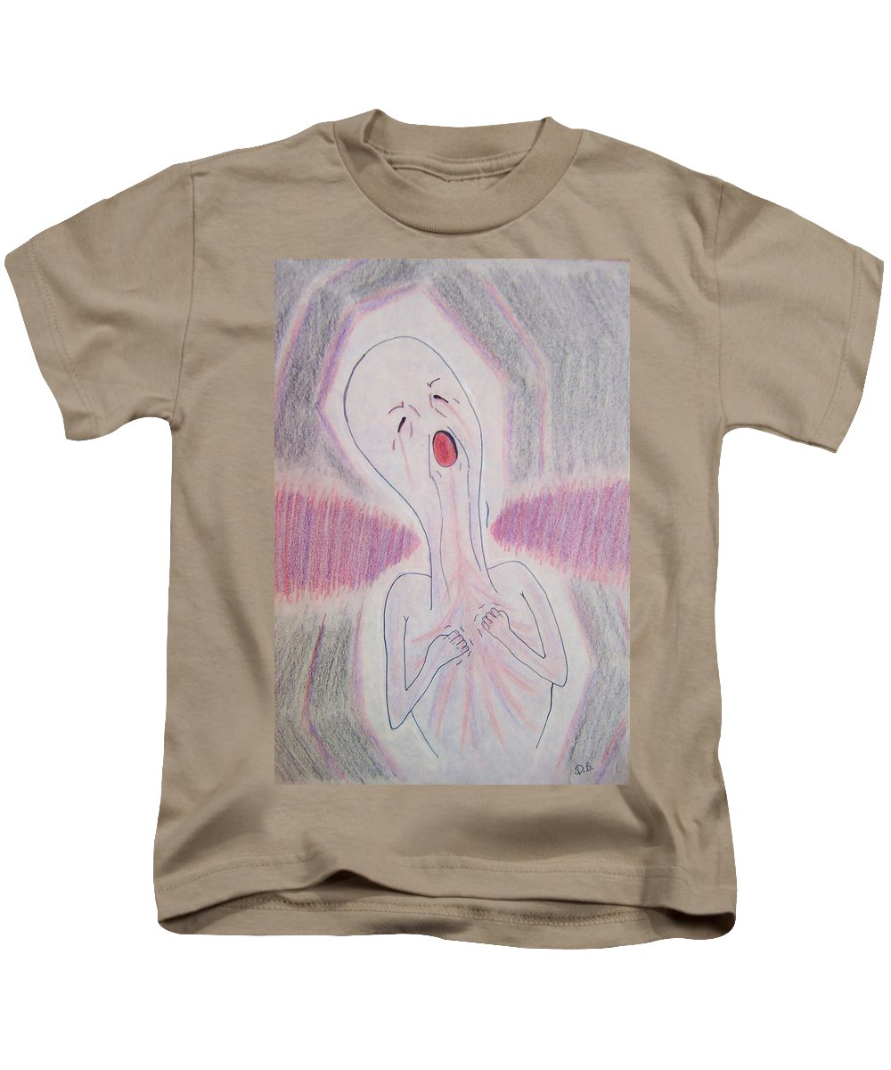 Abuse Kids T-Shirt featuring the drawing Rage by Deahn   Benware