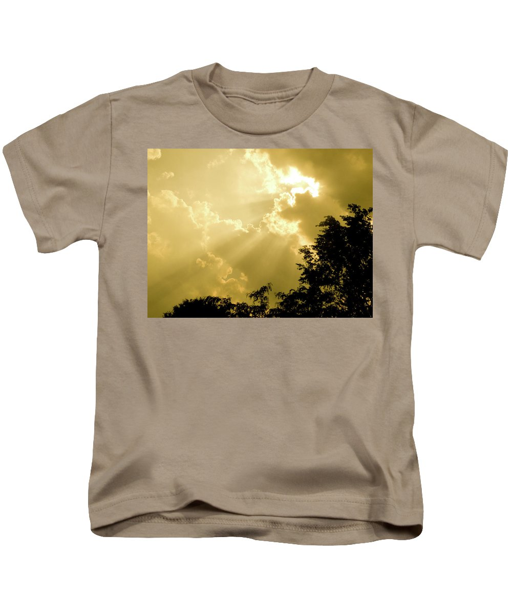 Sun Kids T-Shirt featuring the photograph Rays Of Glory by Trish Tritz