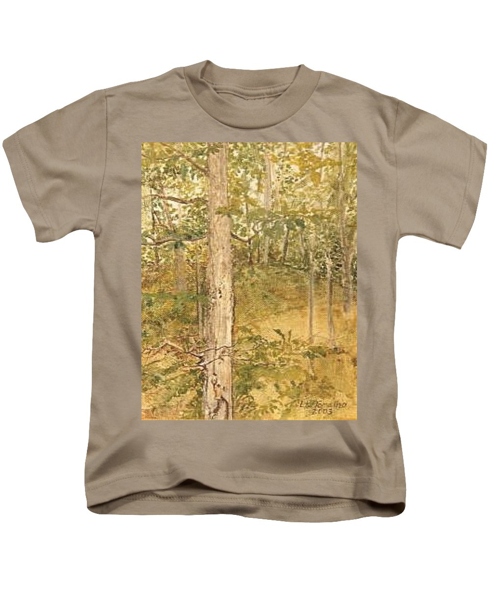 Trees Kids T-Shirt featuring the painting Raystown Lake by Leah Tomaino