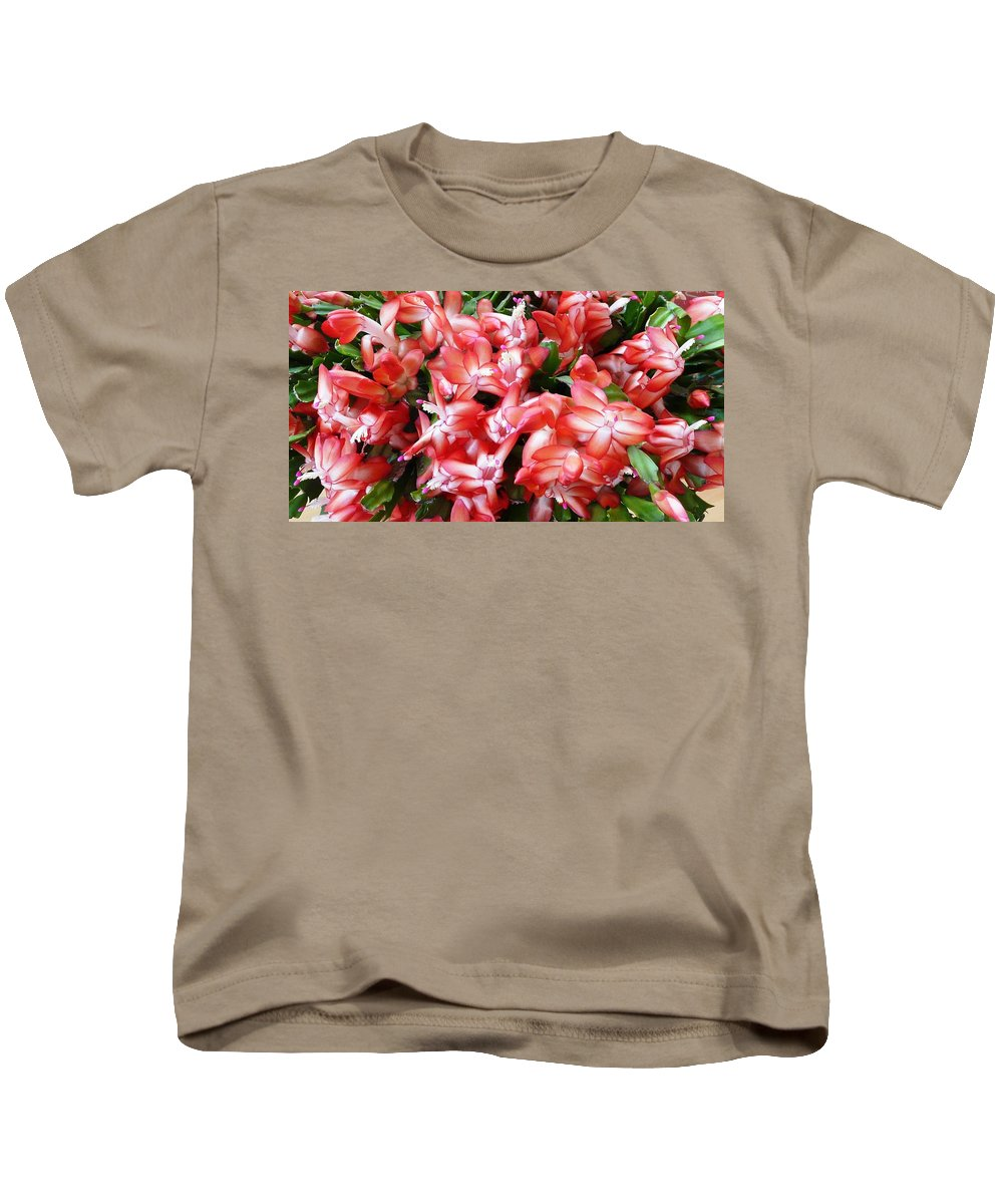 Plant Kids T-Shirt featuring the photograph Red Abundance by Valerie Ornstein