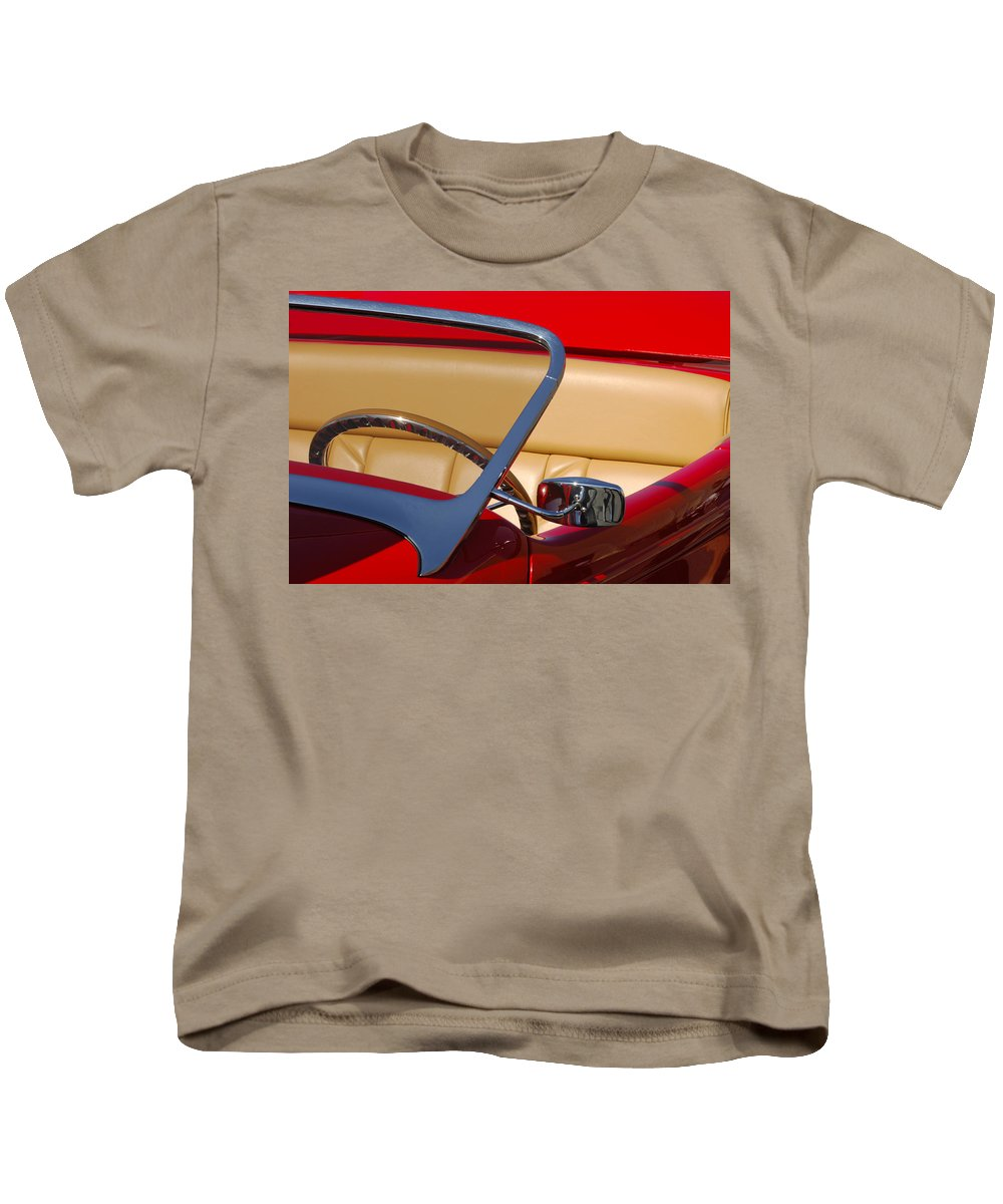 Car Kids T-Shirt featuring the photograph Red Hot Rod by Jill Reger