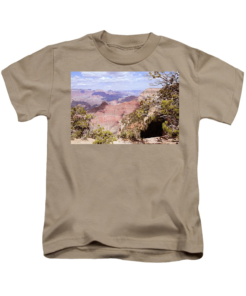 Grand Canyon National Park Kids T-Shirt featuring the photograph Red Wall - Grand Canyon by Larry Ricker