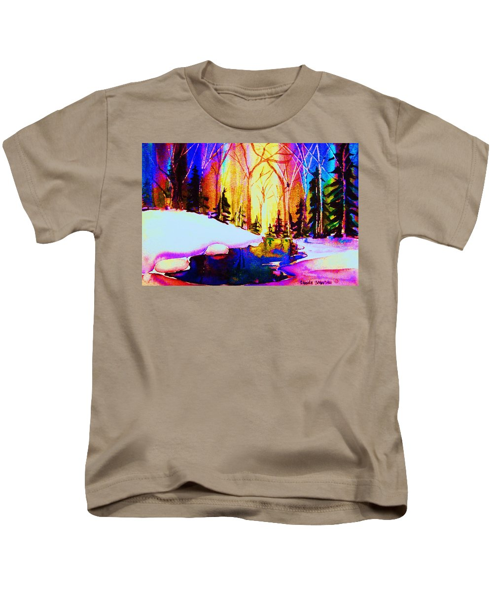 Reflections Kids T-Shirt featuring the painting Reflection by Carole Spandau