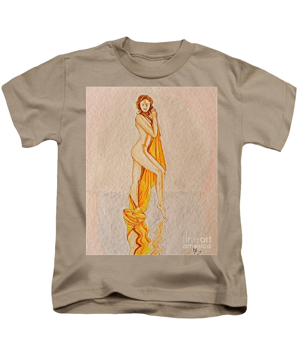 Nude Kids T-Shirt featuring the painting Reflection by Herschel Fall