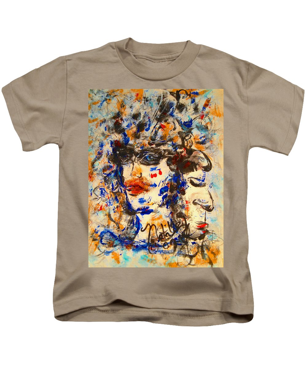 Free Expressionism Kids T-Shirt featuring the painting Reflections by Natalie Holland